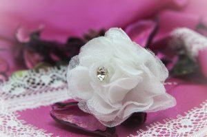 Шпилька «Белая роза»