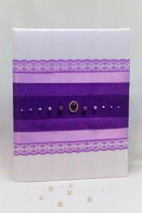 """Папка для свидетельства о браке """"Фиолетовая радуга"""""""