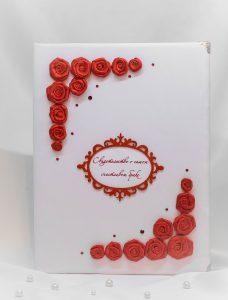 """Папка для свидетельства о браке """"Красные розы"""""""